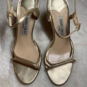 Jimmy Choo Shoes - Jimmy Choo gold metallic high heels